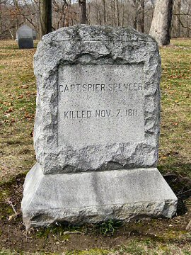 Spier Spencer gravestone photo from Find A Grave by Bob Nielsen from W. Lafayette, Indiana