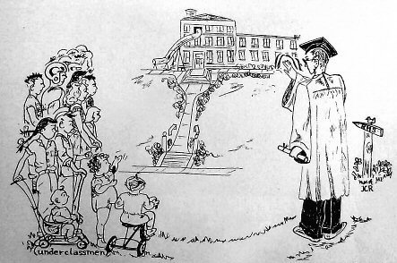Cartoon from 1947 Yearbook, Someday They Will Grow Up