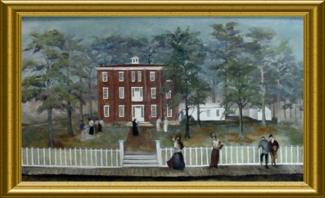 Painting of Rockport High School
